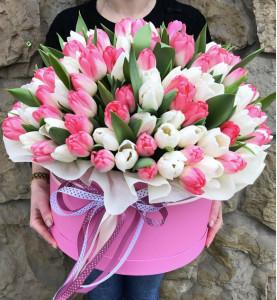 Коробочка с тюльпанами XL