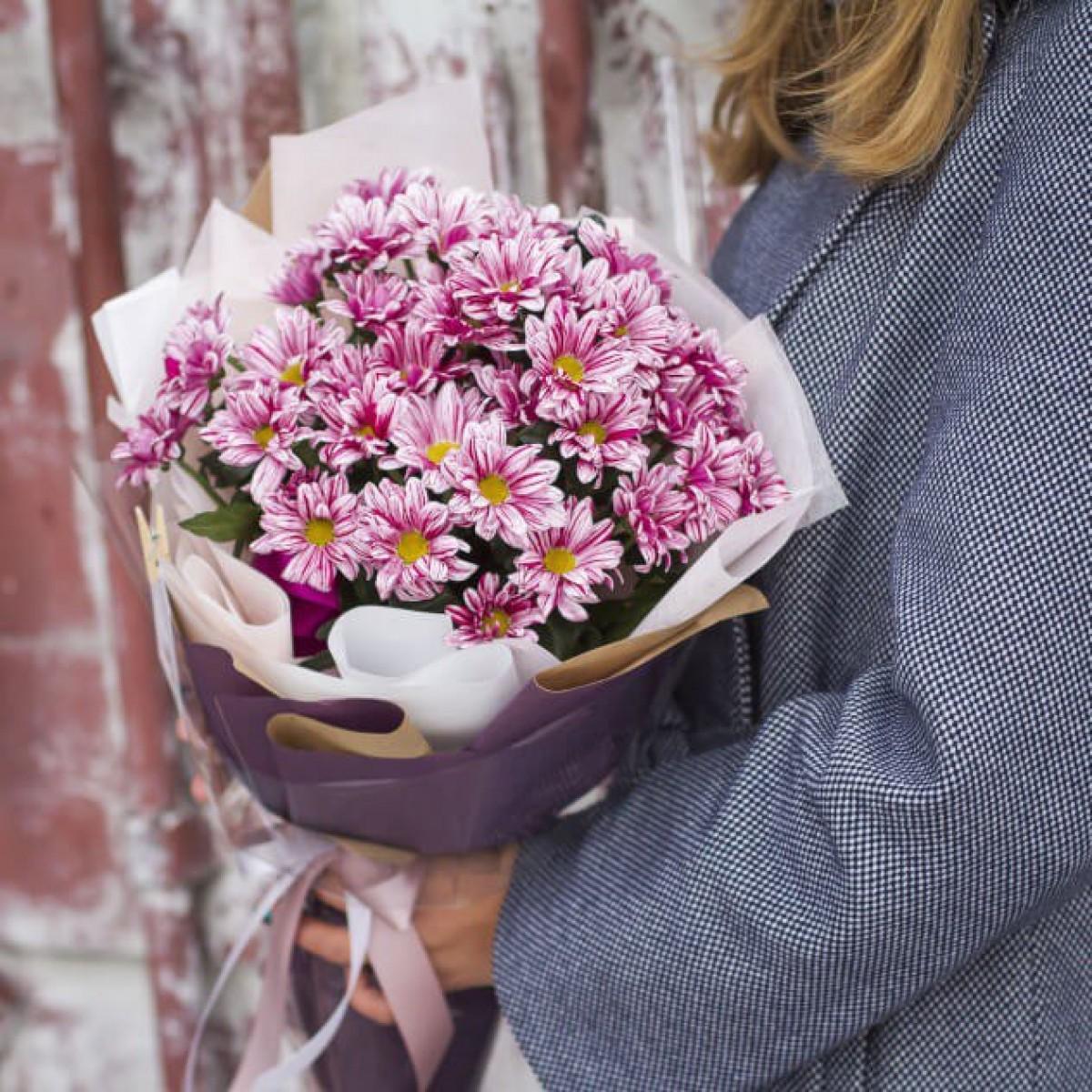 Упаковка букетов своими руками из хризантем