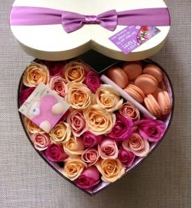 Цветочная коробочка счастья