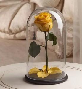 Роза в колбе Premium жёлтая