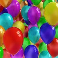 15 Разноцветных шаров с гелием